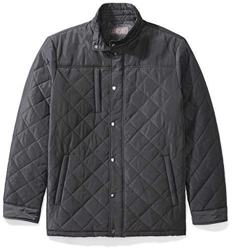 The Plus Project Mens Plus Size Water Resistant Quilted Barn Jacket