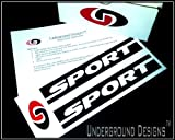 SPORT JK JKU Jeep Fender Decals 2007-2014 Sticker Kit GLOSS BLACK by Underground Designs