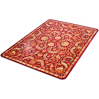 Deflecto Atrium RollaMat Decorative Chair Mat, Medium Pile Carpet Use,  Rectangle, Straight Edge, 45 X 53 Inches, Red Rug Print (CM15242ATR)