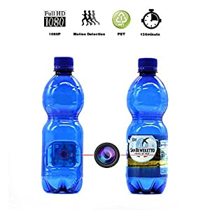 WEKE Hidden Spy Camera, 1080P HD Blue Bottle Portable Camera with Motion Detection