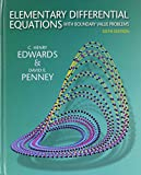 Elem Diffrntl Equa W/boundary&s/sols Mnl Pk, Edwards and Edwards, C. Henry, 0321541340