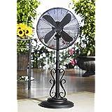 50 Extravagant Onyx Adjustable U/V Resistant Oscillating Outdoor Standing Fan