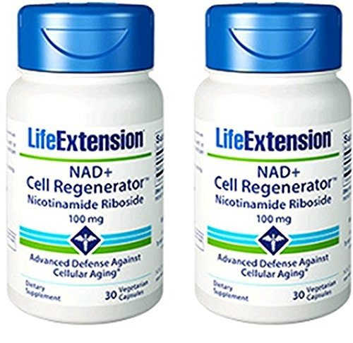 Life Extension Nad+ Cell Regenerator Nicotinamide Riboside , 30 Capsules(2 Pack)