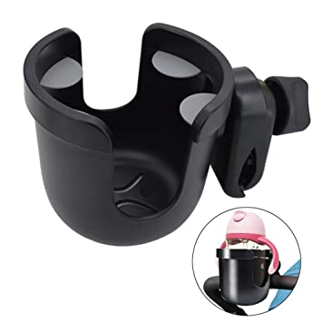 Pushchair Wheelchair Stroller Cup Holder Universal Large Caliber Designed Cup Holder 360 Degrees Rotation Cup Drink Holder for Baby Stroller