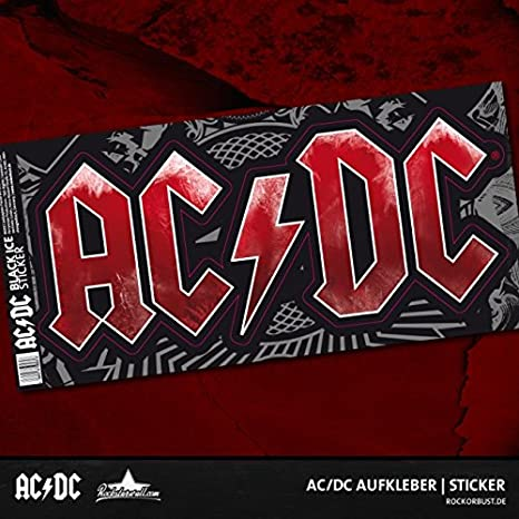 Ac Dc Sticker Aufkleber Music Logo Black Ice Grösse 20 X 10 Cm Auto