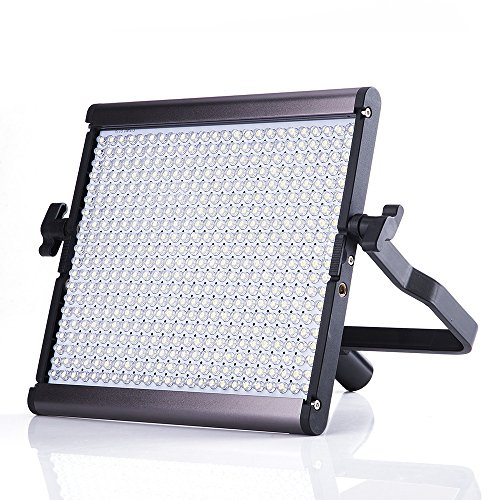 Pergear Lightmate Plus CRI 96+ 5500K Dimmable 960 Led Video Light Panel Ultra-thin Ultra-light Dual Power LED Photography Studio Video Light by PERGEAR