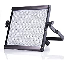 Pergear Lightmate S CRI96+ 5500K Dimmable 480 Led Daylight Balanced Video Light Panel with Brightness Digital Display Ultra-thin Ultra-light Dual Power LED Photography Studio Video Light