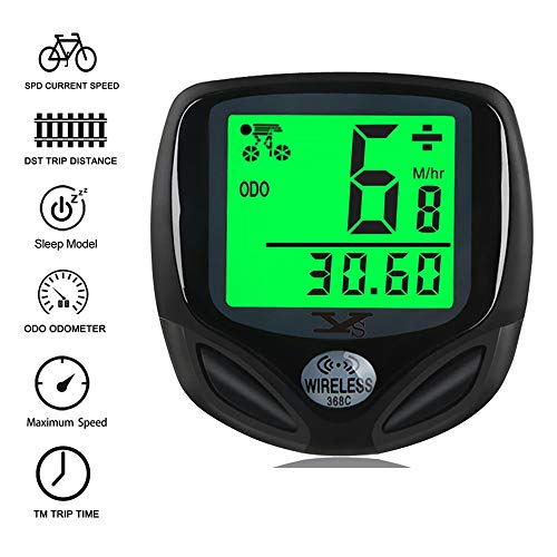 Elikliv Bike Speedometer Wireless, Waterproof Bicycle Bike Computer and Cycling Odometer withAuto Wake-up Function LCD…