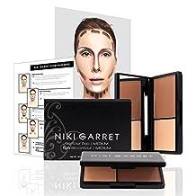 Niki Garret Matte Contour and Highlight Powder Make Up Kit (Medium) - Paraben and Cruelty Free