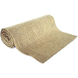 "14"" No-Fray Burlap Roll Table Runner, 14 inches by 10 yards, Placemat, Craft Fabric"