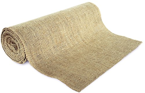": 14"" No-Fray Burlap Roll Table Runner, 14 inches by 10 yards, Placemat, Craft Fabric"