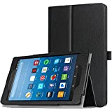 TiMOVO All-New Fire HD 8 2017 Case (7th Generation, 2017 Release) - Smart Cover Slim Folding Stand Case with Auto Wake/Sleep Function for Amazon Fire HD 8 Tablet, Black