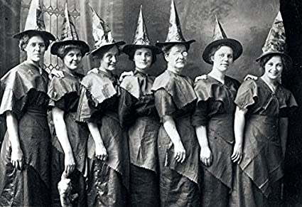 35d8ecfb7036 Amazon.com: 8 x 10 Old Vintage Photo Halloween Witches 1910: Posters ...