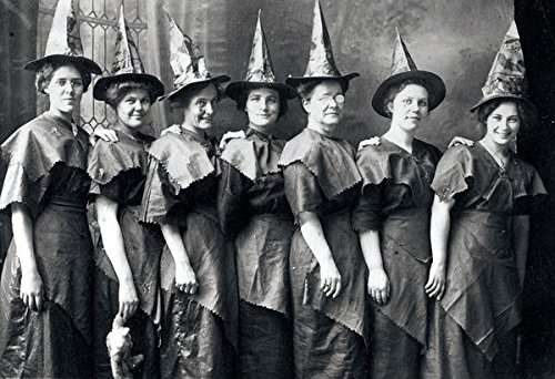 8 x 10 Old Vintage Photo Halloween Witches 1910 -