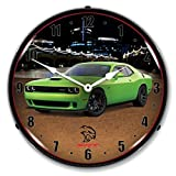 Collectable Sign and Clock FCAD1712818 Challenger SRT Hellcat Sublime Green Lighted Wall Clock Review