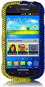 Qtech QT-1559 Unique Dazzling Diamond Bling Case for Samsung Galaxy Stellar i200 - 1 Pack - Retail Packaging - Royal Swirl