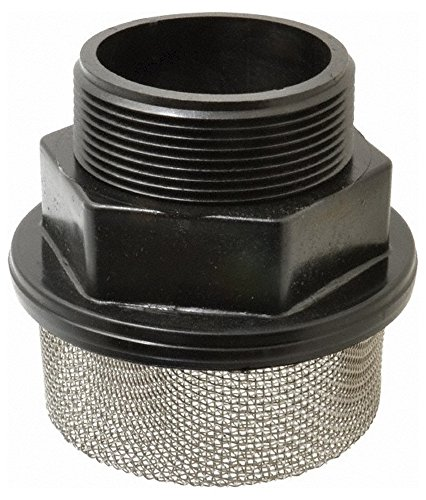 "10 Mesh, 378 LPM, 100 GPM, 5.2"" Diam, Male Pipe Mounted Suction Screen Strainer, 3 Port NPT, 4.6"" Long -  Flow Ezy Filters"