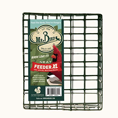 Mr. Bird's XL NeatFeeder Wire Suet and Cake Basket Bird Feeder