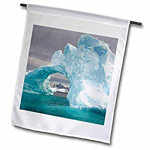 Danita Delimont - Antarctica - Arched iceberg, Western Antarctic peninsula-AN02 SKA0114 - Steve Kazlowski - 18 x 27 inch Garden Flag (fl_69743_2)