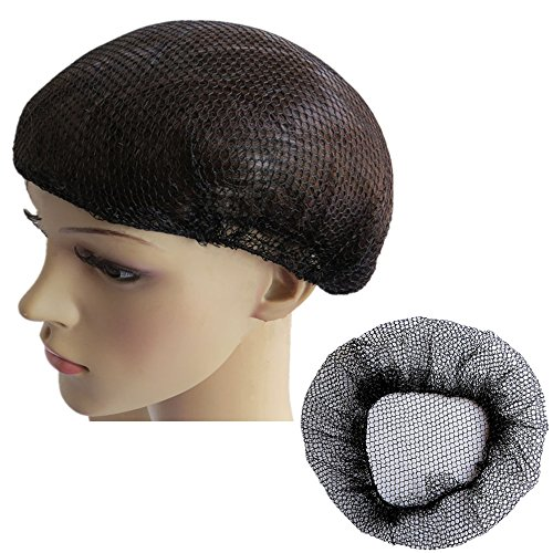 Reusable Hair Nets for Food Service or Sleeping, No Knot and Latex Free Elastic Edge Mesh (M, Black-10pcs) (Food Safety Hair Nets)