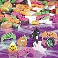 "144 (1 Gross) ~ Halloween Mini Erasers ~ Approx. 1/2""-1"" ~ Assorted ~ New ~ Pumpkin, Ghost, Vampire, Dracula, Black Cat, Bats"