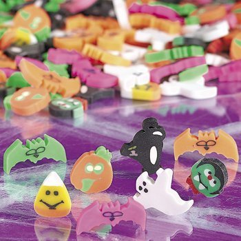 144 (1 Gross) ~ Halloween Mini Erasers ~ Approx. 1/2