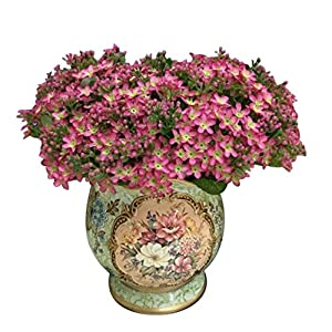 Polytree Artificial Bouquet of Forget Me Not,Little Flower Silk Flowers Party Bridal Bouquet Home Decor 72 Heads 52