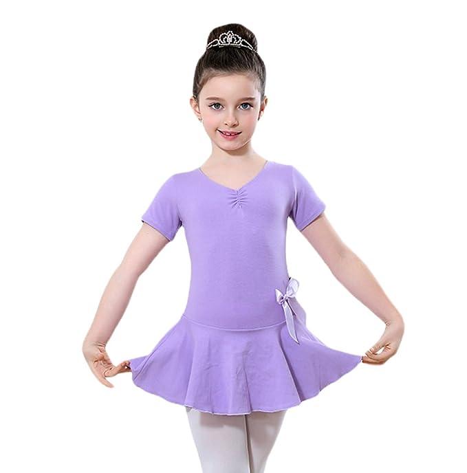 e51195b532539 Yiiquan Niñas Vestido de Ballet Danza para Infantil Actuación Fiesta Manga  Larga Gimnasia Tutú  Amazon.es  Ropa y accesorios