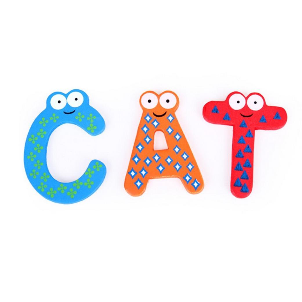 WaiiMak 26 Letters Fridge Magnet Kid Baby Educational Toy Bath Toy Christmas Toys (Colorful)
