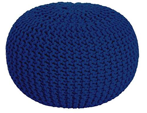MAB Asiento Puff Taburete Cojín de Suelo Ver. Colores Diámetro 55 cm Algodón handgeknüpft