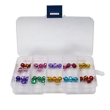 131561 - Set de 6 cajas de plástico transparente, 10 divisiones ajustables para guardar abalorios, accesorios: Amazon.es: Hogar