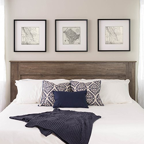 Prepac DHFK-1301-1 Select King Flat Panel Headboard Drifted Gray (For Size Bed King Headboard)
