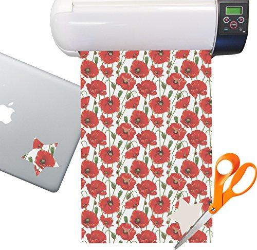 Poppies Sticker Vinyl Sheet (Permanent) ()