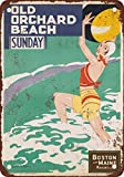 1934 Boston and Maine Railroad Old Orchard Beach Vintage Look Reproduction Metal Tin Sign 12X18 Inches