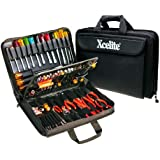 """Xcelite TCS100ST Soft-Sided Rugged Cordura Tool Case with Tools, 17"""" Length, 12"""" Width, 3-1/4"""" Height"""