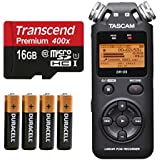 Tascam DR-05 (Version 2) Portable Handheld Digital Audio Recorder (Black) with Basic accessory bundle