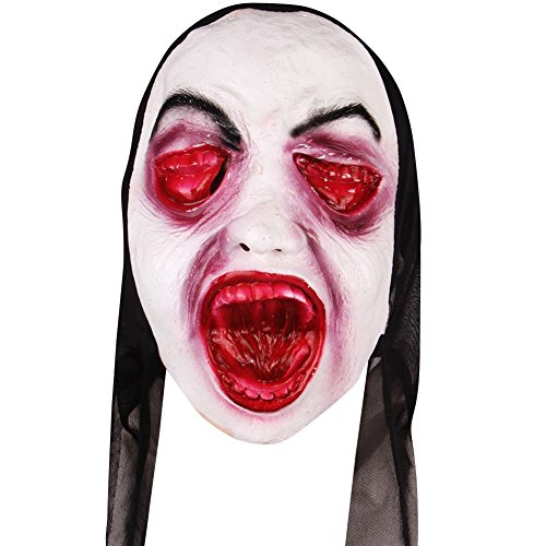 [LETSQK Nightmare Costume Screaming Spooky Corpse Halloween Gruesome Scary Mask D] (Sloth Goonies Costumes)
