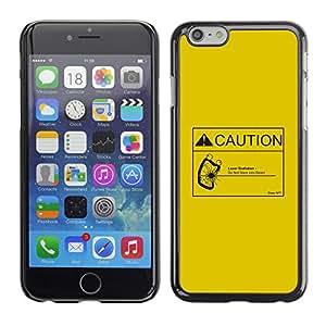 Stuss Case / Funda Carcasa protectora - Attenzione radiazione laserPrecaución Radiación Láser - iPhone 6