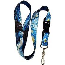 Van Gogh Starry Night Premium Lanyard Keychain Lanyard Holder