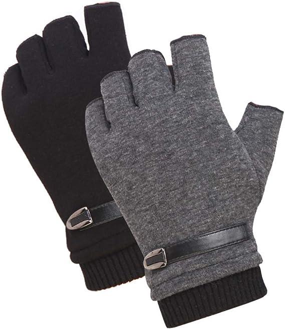 1 paire de Gants noir en laine pour HOMME hiver froid man gloves black cold NEUF