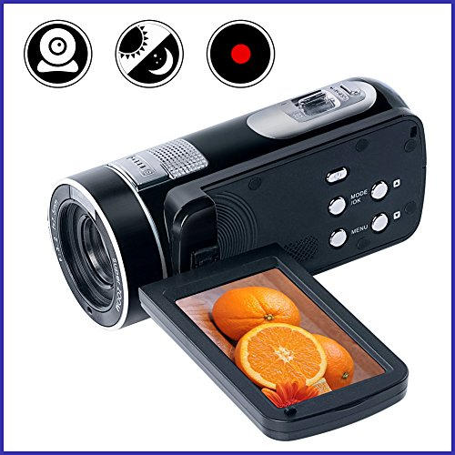"Video Camcorder Full HD 1080p Digital Camera 24.0MP 18x Digital Zoom 2.7"" LCD 270° Rotation Screen With Remote Control"