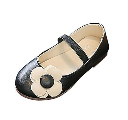 845c603e9624e0 Rawdah Chaussures en Cuir Filles Petites Fleurs Carrés Décontractées  Princesse Casual Shoes Enfants Fleur Souliers Simples