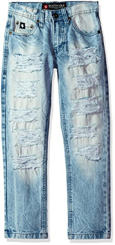 Southpole Washed Denim Ripped Details