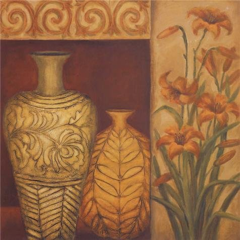 Oil Painting 'Vase And Lilies' Printing On Perfect Effect Canvas , 8x8 Inch / 20x20 Cm ,the Best Home Theater Decoration And Home Gallery Art And Gifts Is This Amazing (Beauty And The Beast Footstool Costume)