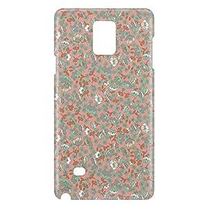 Loud Universe Samsung Galaxy Note 4 3D Wrap Around Floral Decorative Print Cover - Multi Color
