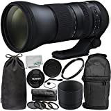 Tamron SP 150-600mm f/5-6.3 Di VC USD G2 for Canon EF 11PC Accessory Bundle - Includes 4PC Warming Filter Kit + MORE - International Version (No Warranty)