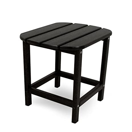 POLYWOOD SBT18BL South Beach 18u0026quot; Side Table, Black