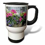 3dRose Danita Delimont - Flowers - Flowers in window boxes, Nantucket, Massachusetts, USA - 14oz Stainless Steel Travel Mug (tm_279042_1)