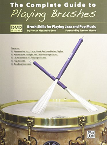 Alfred Publishing Pop (The Complete Guide to Playing Brushes: Brush Skills for Playing Jazz and Pop Music (Book & DVD))