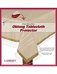 "LAMINET Heavy Duty Deluxe Clear Vinyl Tablecloth Protector (60"" x 108"")"